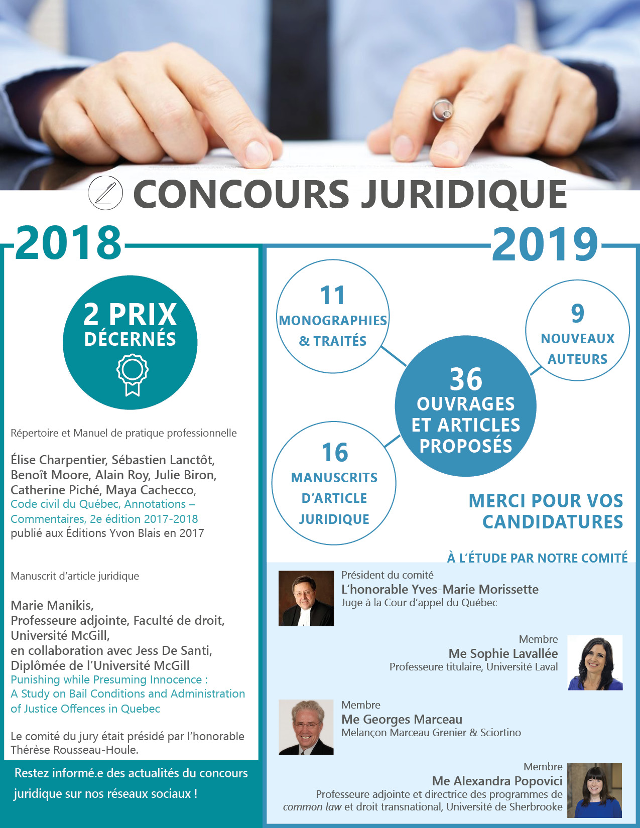 Concours juridique 2018 : Découvrez les travaux primés